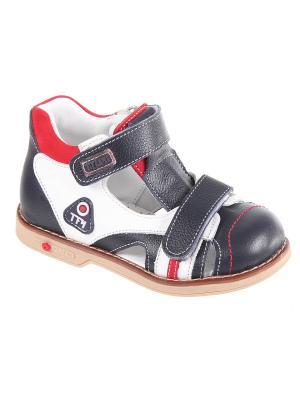 Детская обувь TIFLANI. Цвет: темно-синий, красный, белый