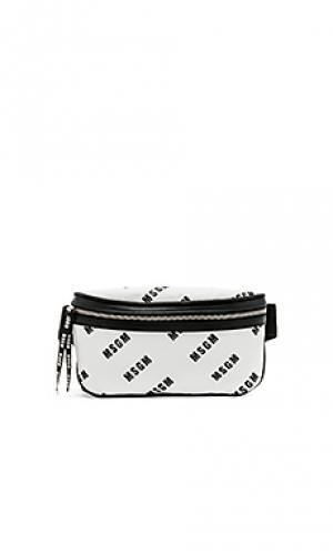 Поясная сумка MSGM. Цвет: белый