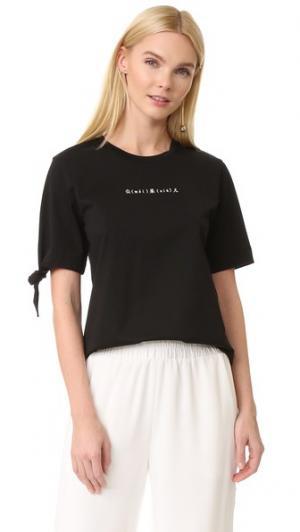 Асимметричная футболка Edition10. Цвет: голубой