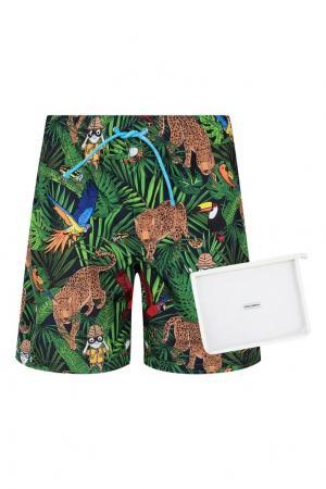 Пляжные шорты с принтом Dolce&Gabbana Children. Цвет: multicolor