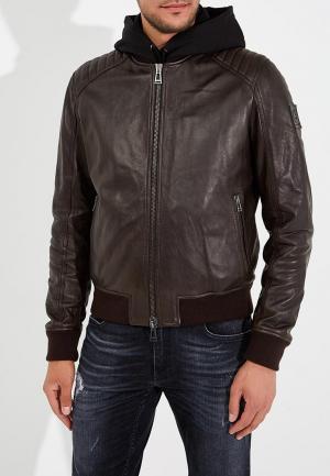 Куртка кожаная Belstaff. Цвет: коричневый