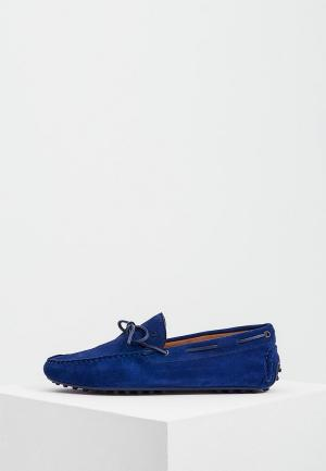 Мокасины Trussardi Jeans. Цвет: синий