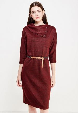 Платье Finn Flare. Цвет: бордовый