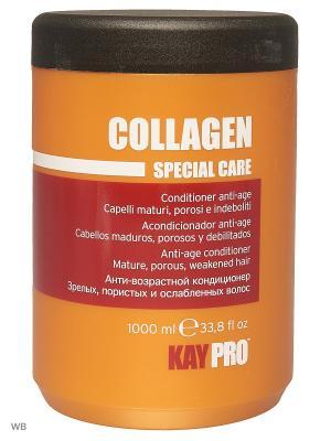 Кондиционер с коллагеном для длинных волос 1000 мл. KayPro. Цвет: оранжевый