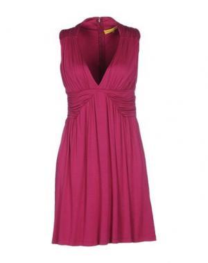 Короткое платье CATHERINE MALANDRINO. Цвет: пурпурный
