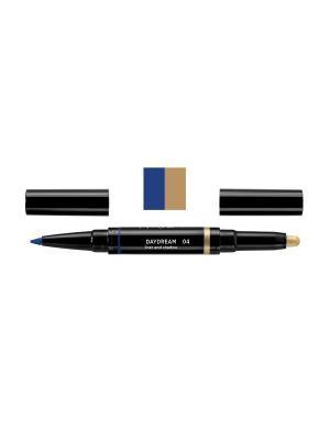 Карандаш и тени для век в наборе DAYDREAM liner and shadow, тон 4 NOUBA. Цвет: лазурный, золотистый
