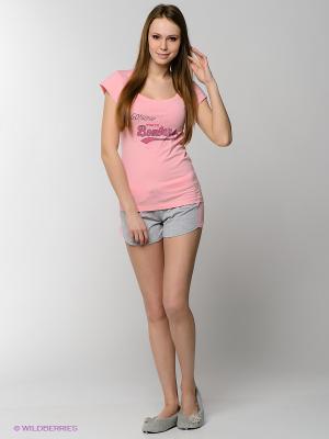 Костюм HAYS. Цвет: розовый, серый меланж