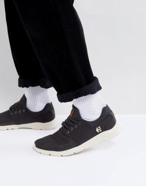 Etnies Черные кроссовки Scout. Цвет: черный