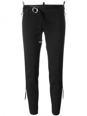 Укороченные брюки с ремнем Dsquared2. Цвет: чёрный