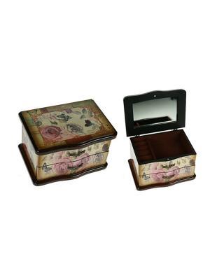 Шкатулка Сундучок Русские подарки. Цвет: коричневый