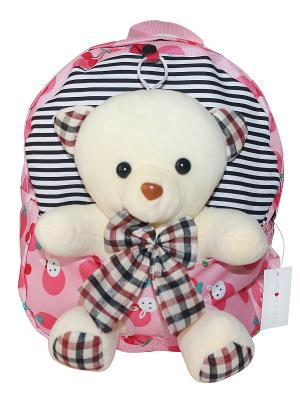 Детский рюкзак с мишкой GOOD MOOD. Цвет: розовый