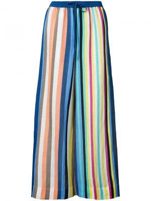 Брюки в полоску Dvf Diane Von Furstenberg. Цвет: многоцветный