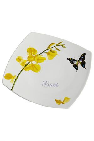Тарелка обеденная Ceramiche Viva. Цвет: мультицвет