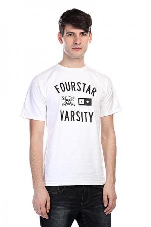 Футболка  Varsity White Fourstar. Цвет: белый