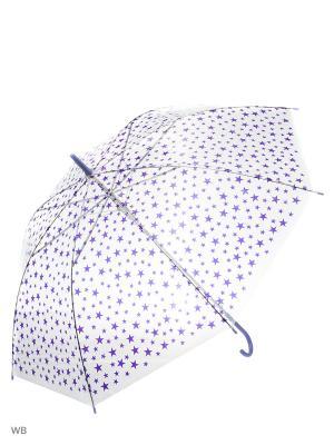 Зонт Modis. Цвет: прозрачный, фиолетовый