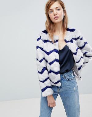Unreal Fur Куртка из искусственного меха Abracadabra. Цвет: серый