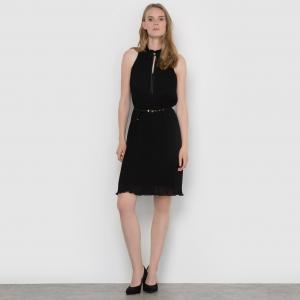 Платье с высоким воротником ESPRIT. Цвет: черный