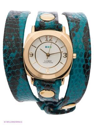 Часы La Mer Collections. Цвет: черный, бирюзовый, морскаяволна