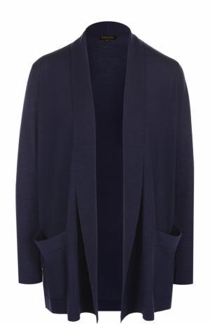 Удлиненный кардиган с накладными карманами Escada. Цвет: темно-синий