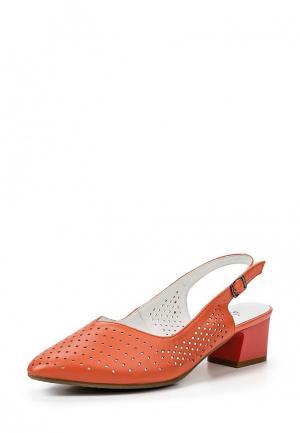 Туфли Ascalini. Цвет: коралловый