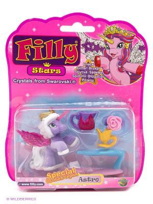 Игровой набор лошадки Филли/Filly Звезды  1 фигурка с аксессуарами Astro Dracco. Цвет: розовый