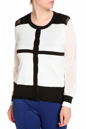 Комплект: кардиган, блуза LAVELLE. Цвет: белый