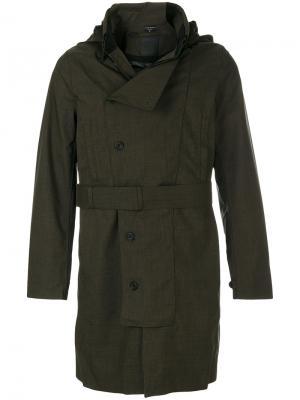Приталенное пальто на пуговицах Norwegian Rain. Цвет: зелёный