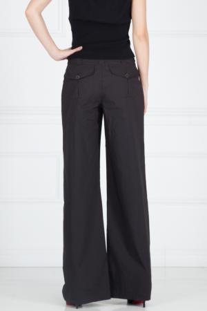 Хлопковые брюки Pollini. Цвет: черный