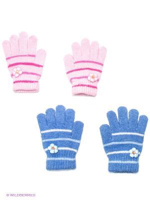 Перчатки 2 пары FOMAS. Цвет: синий, розовый