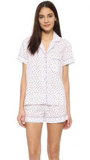 Пижама Eloise Three J NYC. Цвет: красные сердечки/фиолетовая окантовка