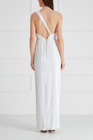 Платье с пайетками Alexander Terekhov. Цвет: белый
