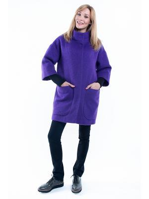 Пальто утепленное SUCCESS. Цвет: фиолетовый
