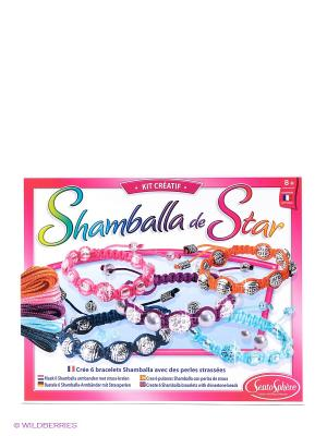 Набор для детского творчества Браслеты Шамбала SENTOSPHERE. Цвет: розовый, белый