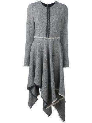 Твидовое платье Marco Bologna. Цвет: чёрный