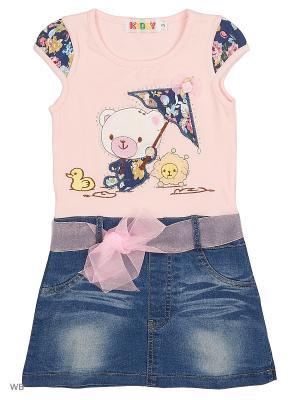 Платье с джинсовой юбкой Kidly