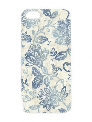 Чехол для iPhone 5/5s Голубой гобелен Арт. IP5-244 Chocopony. Цвет: белый, синий, голубой