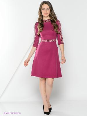 Платье La Fleuriss. Цвет: сиреневый