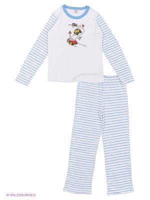 Пижама мал.  MSC 109 03 цвет белый, рингель Квирит. Цвет: белый