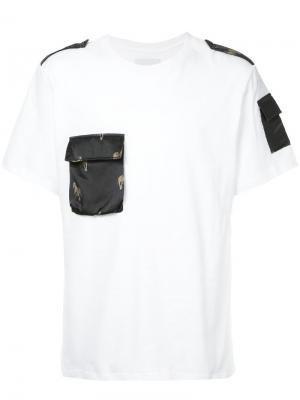 Футболка с контрастным карманом Yoshiokubo. Цвет: белый