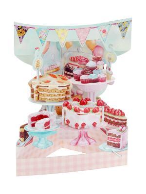 Объемная открытка  Тортики Даринчи. Цвет: розовый