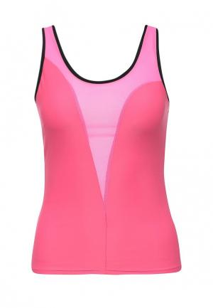 Майка спортивная Dali. Цвет: розовый