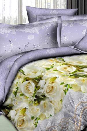 Постельное белье 2,0 сп 70х70 Patrizia. Цвет: бледно-сиреневый, желтый
