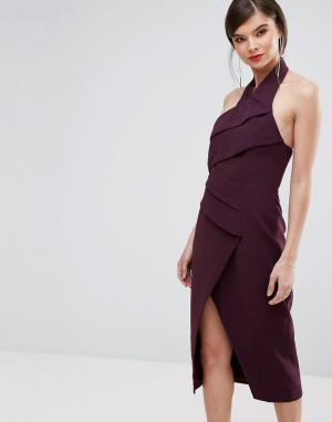 C/meo Collective Платье миди. Цвет: фиолетовый