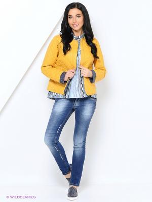 Куртка Lanicka. Цвет: горчичный
