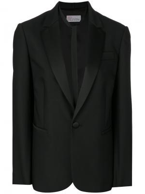 Приталенный пиджак Red Valentino. Цвет: чёрный