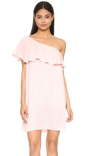 Платье Zoe Amanda Uprichard. Цвет: «пыльный» розовый