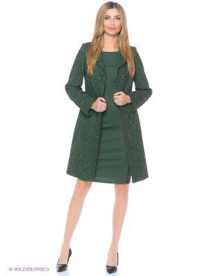 Пальто Lanicka. Цвет: зеленый
