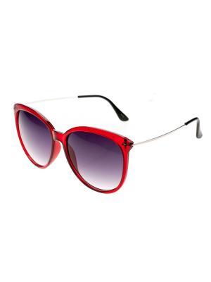 Очки солнцезащитные Pretty Mania. Цвет: серебристый,красный,черный