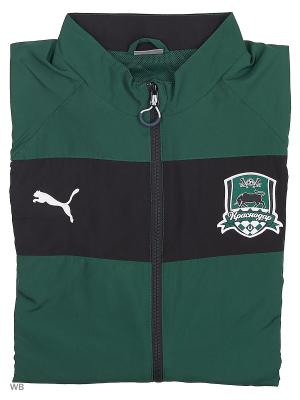 Куртка FK Krasnodar Leisure Jacket Puma. Цвет: зеленый