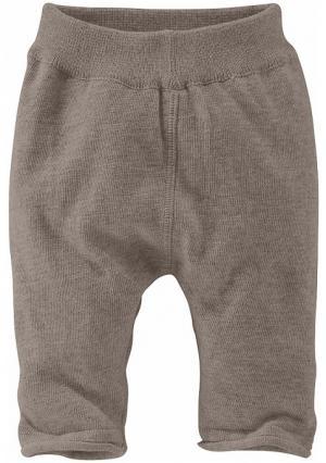 Трикотажные брюки KLITZEKLEIN. Цвет: коричневый